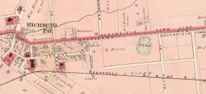 Central SIRR Never Built South of Richmond 1874 Beers nypl