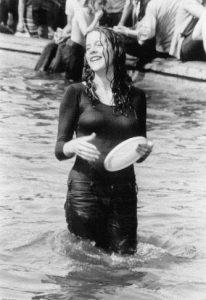 Girl in Fountain with Frisbee by EK Criaris Property of Cheryl Bontales